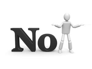NOの文字と人型アイコン