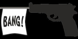 イラストの拳銃