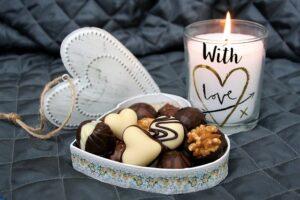 チョコレートと蝋燭
