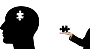脳のパズルのイラスト