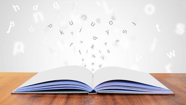 読書から飛び出る文字
