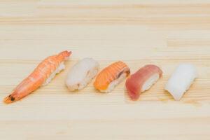 寿司のネタ5つ
